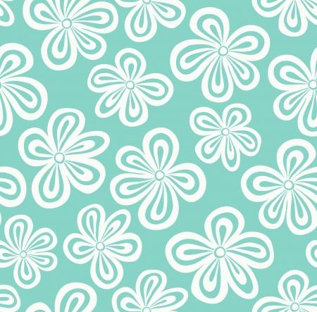 Jednolite niebieski wzór kwiatowy ilustracja