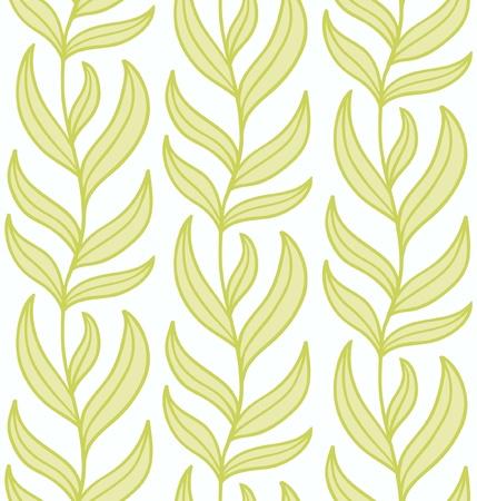 liana: Seamless liana ornament light green  illustration