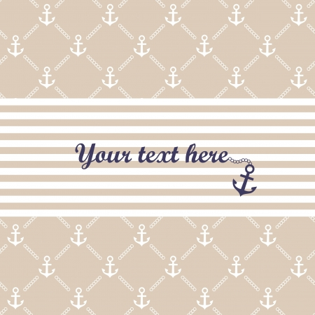 marine ship: Stylish anchor template illustration Illustration