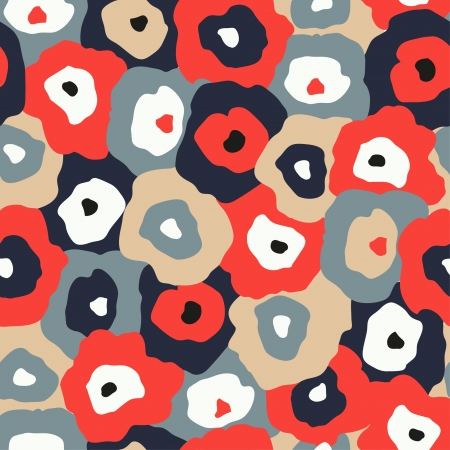 Colorful abstract flower pattern illustration