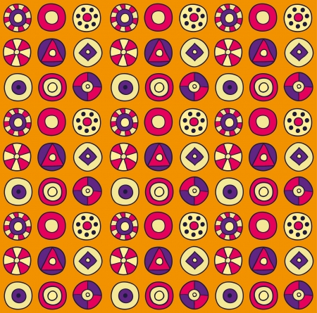 Abstract orange circles background  illustration Stock Vector - 15094420