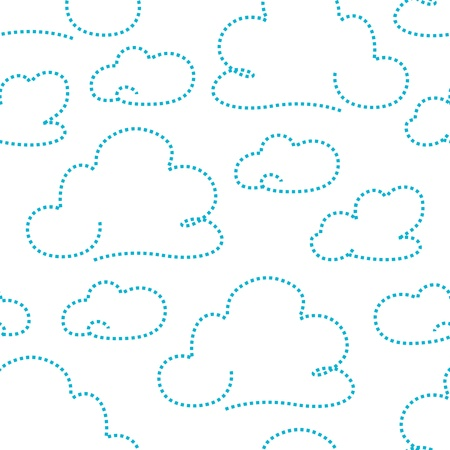 dashed: Seamless cloudy pattern  illustration