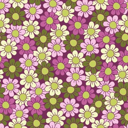 Naadloze bloempatroon Green en violet illustratie