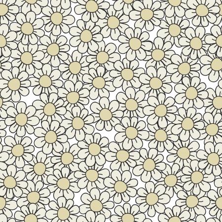 Seamless stylish gray flower pattern illustration Stock Vector - 15135173