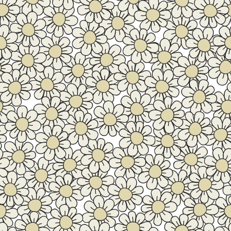 Seamless stylish gray flower pattern illustration Stock Vector - 15135173