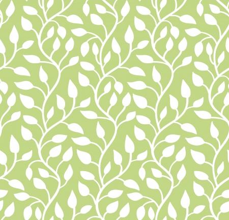 Seamless illustration moderne vert feuille modèle