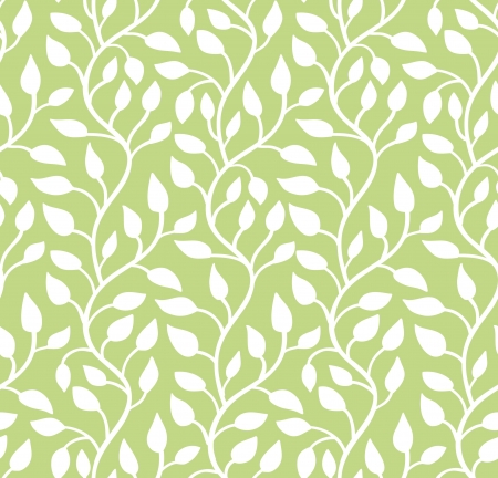 Seamless modern leaf pattern  Green  illustration Stock Vector - 15135131