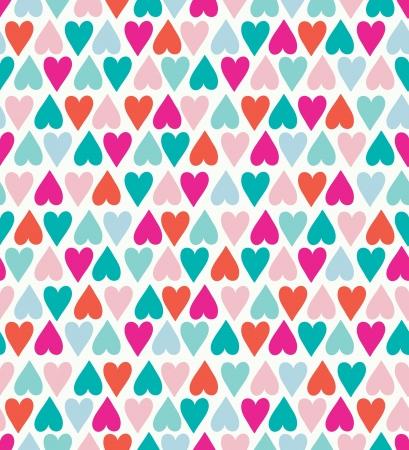 Seamless stylish color hearts pattern. Vector illustration Stock Vector - 15135028
