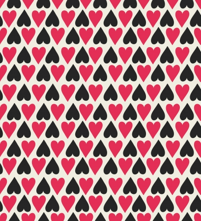 Seamless stylish color hearts pattern Stock Vector - 15135031