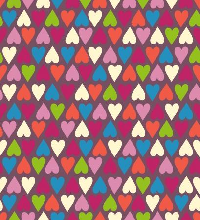 Seamless stylish color hearts pattern  Vector illustration Stock Vector - 15135026