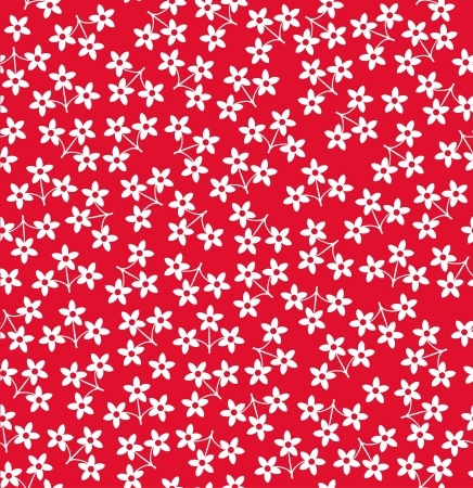 Seamless stylish red flower pattern illustration Vector