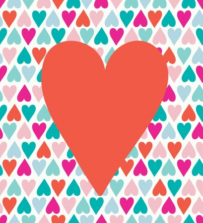 Seamless stylish color hearts pattern  Stock Vector - 15135006