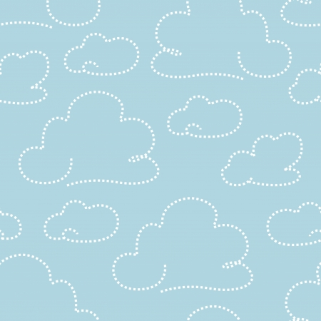 decorative wallpaper: Seamless light blue cloudy pattern  illustration
