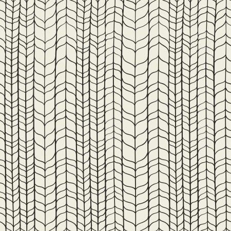 Seamless hand drawn whicker pattern illustration Illustration