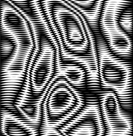 Black and white abstract illusion