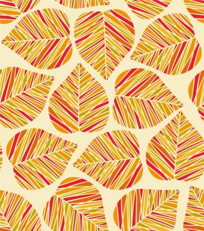 Seamless autumn stylized leaf pattern