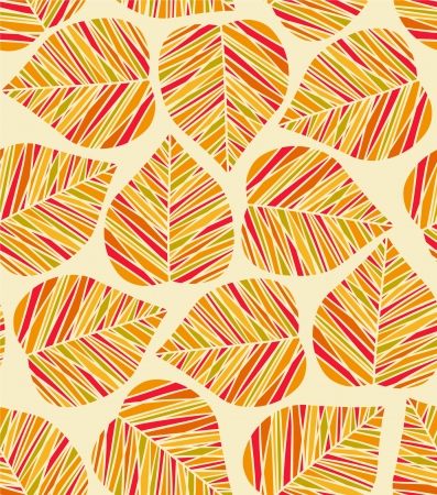Seamless autumn stylized leaf pattern