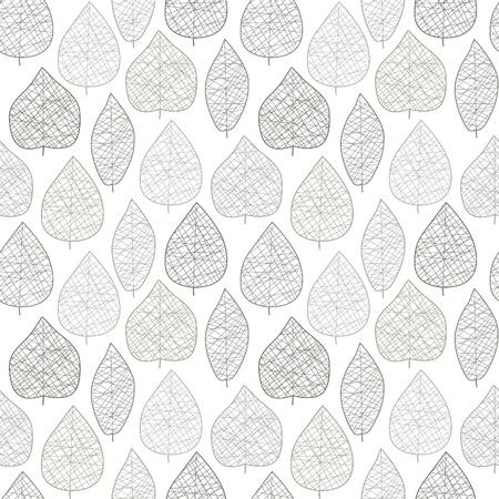 Seamless stylized light leaf pattern