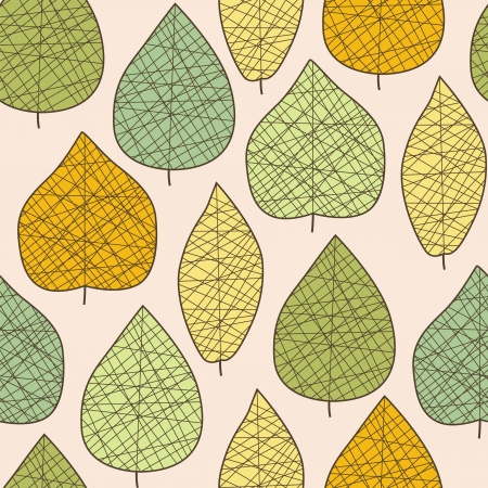 Seamless stylized autumn leaf pattern