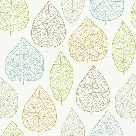 Jednolite wzór stylizowany liść światło