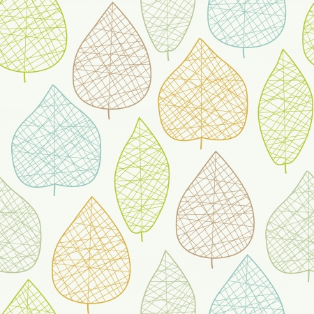 Seamless stylized light leaf pattern Vector