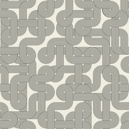 Twisted lines. Seamless abstract pattern Vector