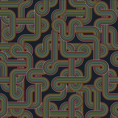 Twisted color lines. Seamless abstract pattern Vector