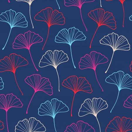 ginkgo: Beautiful seamless stylish ginkgo pattern