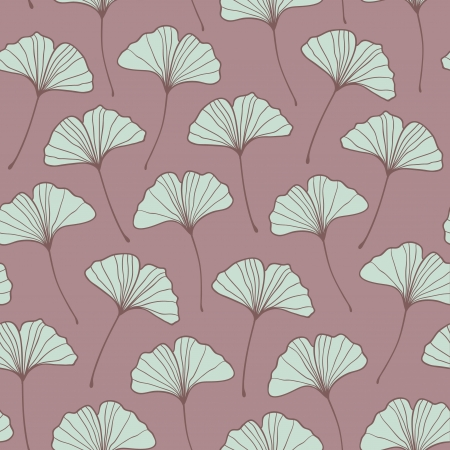 Beautiful seamless violet ginkgo pattern