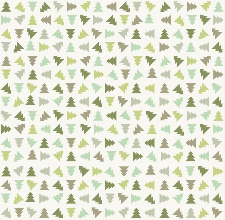 Stylish color christmas tree pattern Vector illustration
