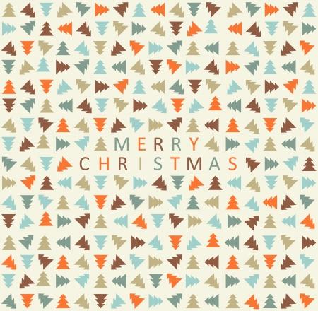 Stilvolle Farbe christmas tree pattern Vektor-Illustration
