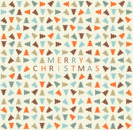 Stylish color christmas tree pattern  Vector illustration Vector