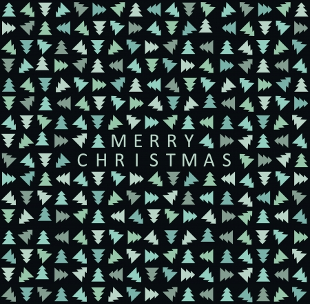 Seamless stylish christmas tree pattern  Vector illustration Stock Vector - 15703736