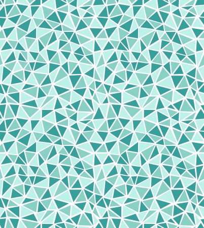 Seamless stylish geometric pattern  Green triangles  Vector illustration Çizim