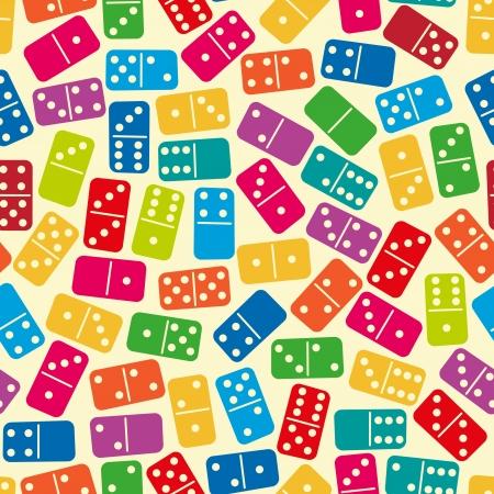 brettspiel: Nahtlose stilvolle Farben Dominosteine ??pattern Vektor-Illustration