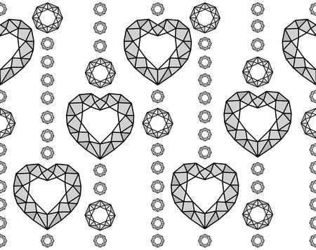 Seamless stylish light diamond pattern  Vector illustration Stock Vector - 15703737