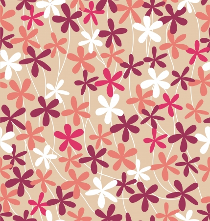 Seamless cute pink floral pattern  Vector illustration Stock Vector - 15703746