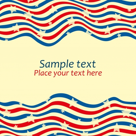 patriotic border: Seamless striped borders with stars.