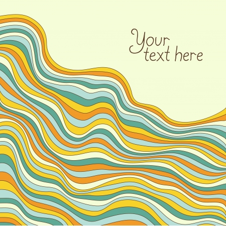 dibujos lineales: Ondas de color hermoso. Resumen de antecedentes. Ilustración vectorial Vectores