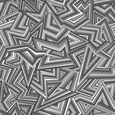 Broken lines. Seamless abstract gray background.  Vector