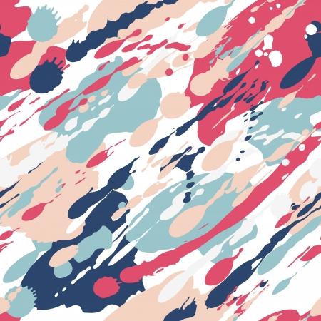 Seamless color splash pattern. Pink and blue.  Illustration