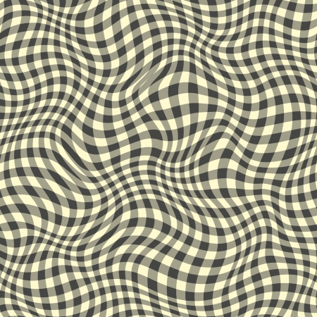 visual art: Seamless abstract black plaid pattern.