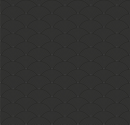 Seamless abstract dark pattern with circles.  Vector