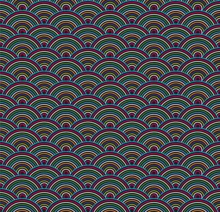 Beautiful seamless pattern with color circles.  Vector