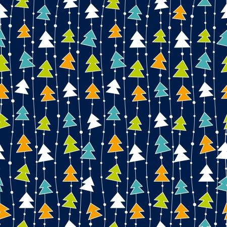 Zabawny wzór Bożego Narodzenia z kolorowych choinek.