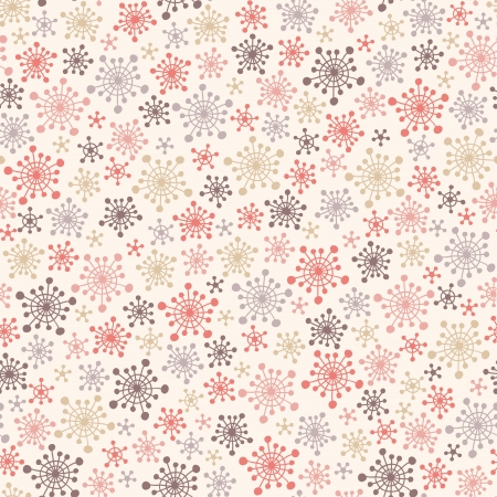 Seamless cute pattern with snowflakes  Vector illustration