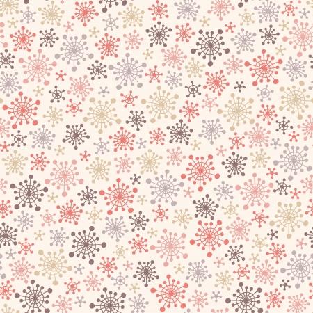 Seamless ładny wzór z ilustracji wektorowych śnieżynkami