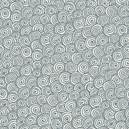 Seamless abstract hand-drawn pattern with gray spirals  Vector