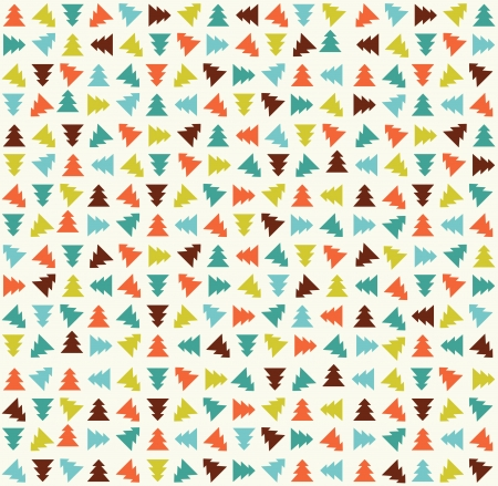 Cute color christmas tree pattern  Vector illustration Stock Vector - 16154798