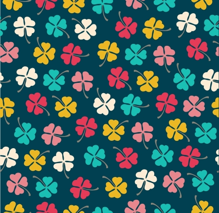 Seamless stylish color clover pattern  Vector illustration Vector